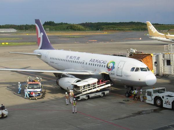 マカオ航空 NX861便 成田⇒マカオ 搭乗記