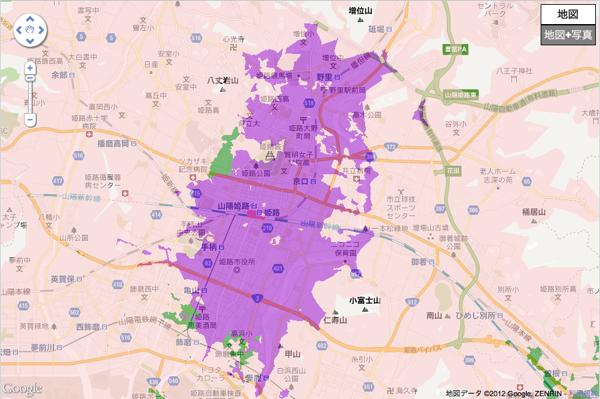 姫路駅周辺のXiエリア 2012年5月末までに順次拡大の予定