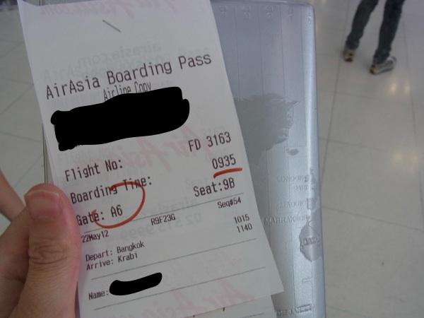 タイ・エアアジア国内線 バンコク ⇒ クラビ FD3163便 搭乗記
