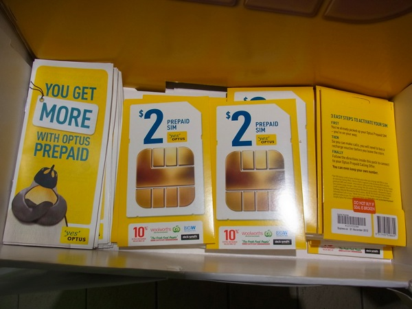 ゴールドコースト:$2/日で国内通話&インターネット使い放題のOptusのプリペイドSIMカードを購入してみた