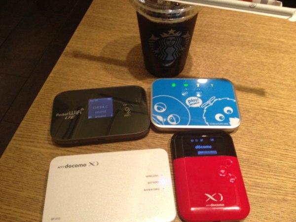 docomo Wi-Fi/WiMAX/EMOBILE LTE/Xi(b-mobile)のスピードテスト