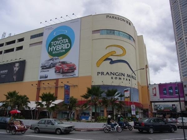 ペナン島『Prangin Mall』のケータイ売り場