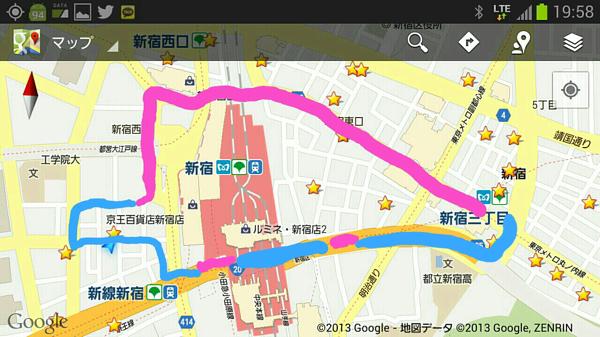 新宿駅周辺がXi下り最大75Mbpsエリア化していた