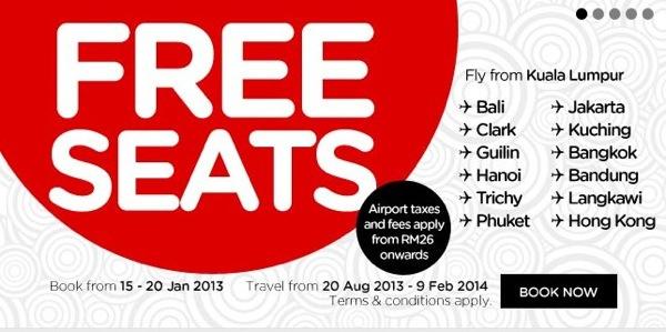 エアアジア BIG SALE開始!東南アジア路線で無料航空券も