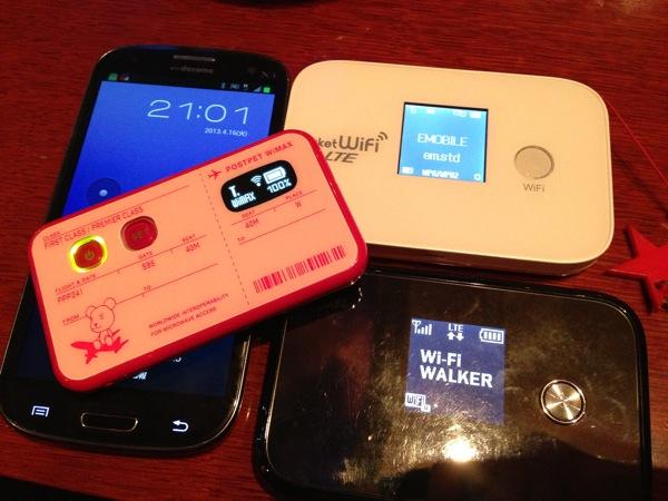 Wi-Fi WALKER LTE(HWD11)で利用可能なLTEエリアがけっこう広い