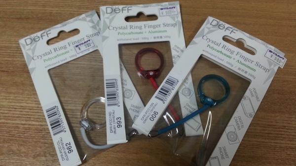 透明感のあるリングストラップ『DeFF Crystal Ring Finger Strap』を購入してみた
