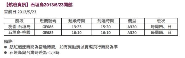 復興航空 5月23日より台北 ⇔ 石垣の運航再開を正式発表!