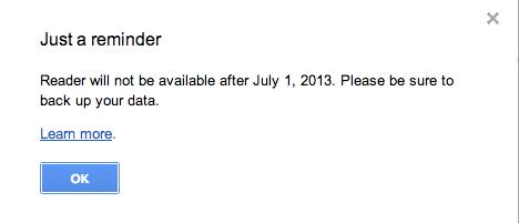 Google Readerが終了直前!データのバックアップ&移行し忘れに注意!