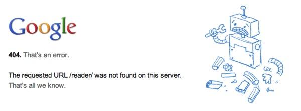Google Readerがサービスついに終了/Webサイトへのアクセスが不可に