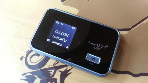 SIMフリーのモバイルWi-Fiルータ GL06PをマレーシアのCELCOMのSIMカードで利用