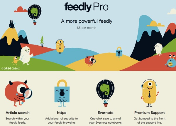 Feedly、月額$5の有料サービス『Feedly Pro』を発表!$99でFeedly Proが生涯利用可能な『Lifetime Edition』のユーザを5,000名限定で募集中!