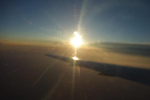 飛行中に見えた外の風景