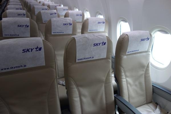 SKY895便 機内の様子