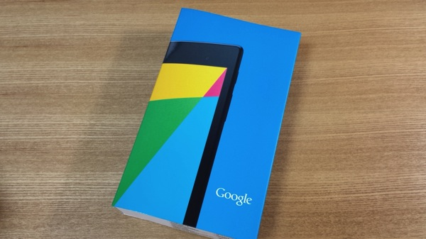 Nexus 7(2013) Wi-Fi版が届いたので開封&フォトレビュー