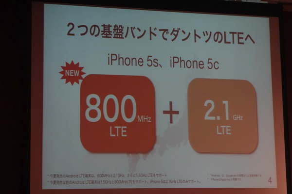 iPhone 5s/5cは2つの基盤バンドに対応