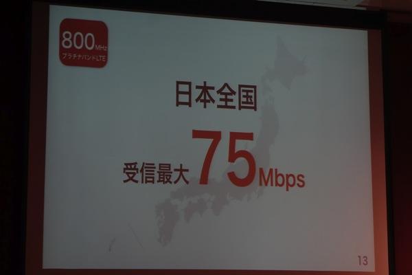 日本全国で受信最大75Mbps