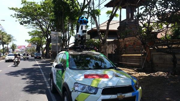 インドネシア:バリ島でGoogleストリートビューカーを目撃した