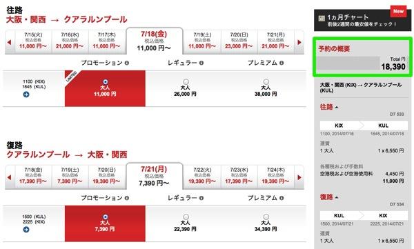 エアアジア:BIG SALEを開催!羽田&関空 ⇔ クアラルンプール往復は約18,000円!