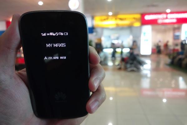 E589をマレーシアのmaxis回線で使う