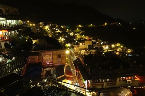 RX100M2で撮影した台湾『九份』の夜景