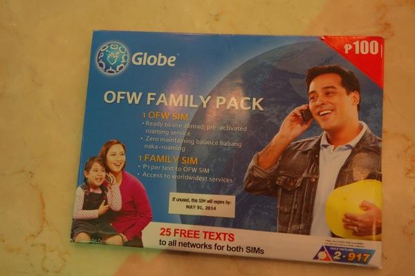 フィリピン マニラ国際空港 ターミナル3でGLOBEのプリペイドSIMカードを購入!