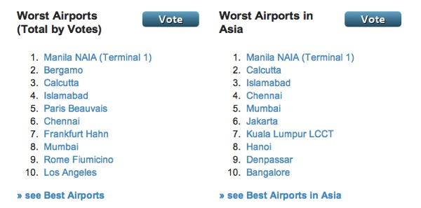 フィリピン マニラ国際空港(第一ターミナル)二年連続で『世界最悪の空港』に選出される