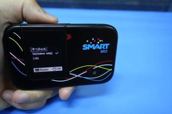 モバイルWI-Fiルータ E5372のWi-Fiは5GHz帯にも対応(要設定変更)