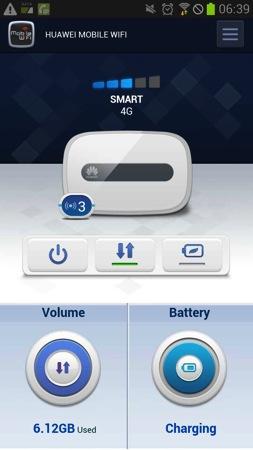 Android向けのモバイルWi-Fiルータのステータス確認アプリ『HUAWEI Mobile WiFi 2』はE5372にも対応している