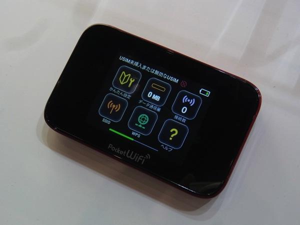 CEATECのHuaweiブースに301HW(GL10P)が実機展示されていた