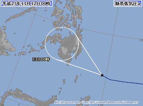 フィリピンに台風31号が上陸の可能性/熱帯低気圧が発達して接近中