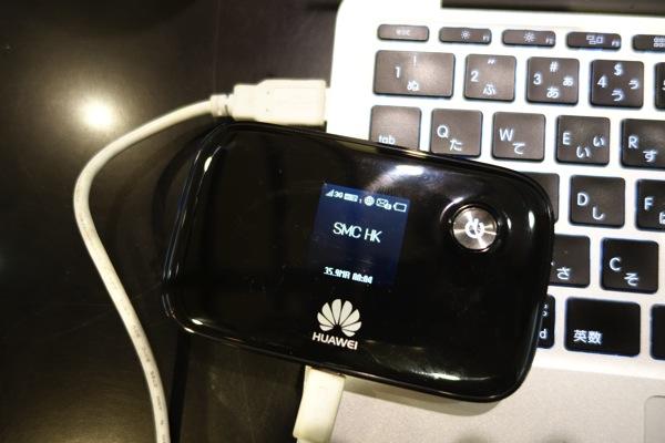 E5776s-32とMacBook AirをUSB給電状態接続
