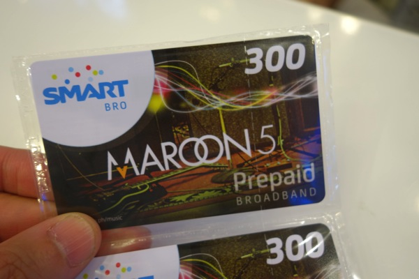 フィリピンSMARTのデータ通信向けサービス『SMART Bro』のロードカードは音声対応SIMとは異なる