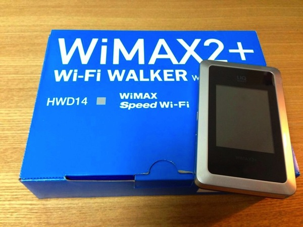 WiMAX 2+対応のモバイルWi-Fiルータ『Wi-Fi WALKER WiMAX2+』を白ロムで購入してみた