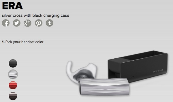 Jawbone ERAの新モデルを発表/充電機能付き専用ケースも提供