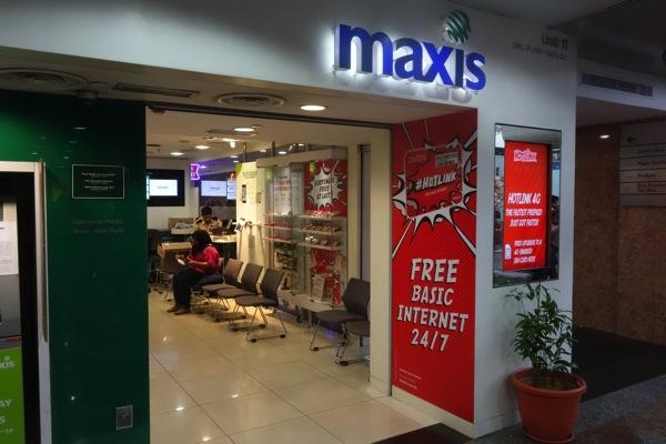 KLセントラルにあるMaxisのお店でSIMカード交換の申込
