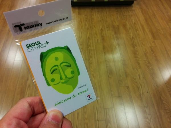 韓国で使える交通系ICカード『T-Money』