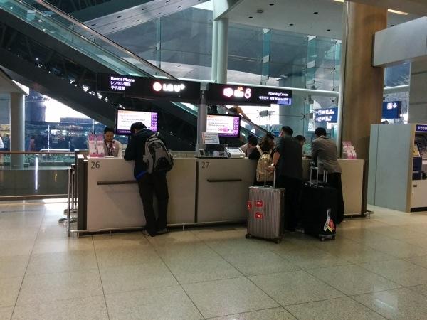 仁川国際空港 LG U+のカウンター
