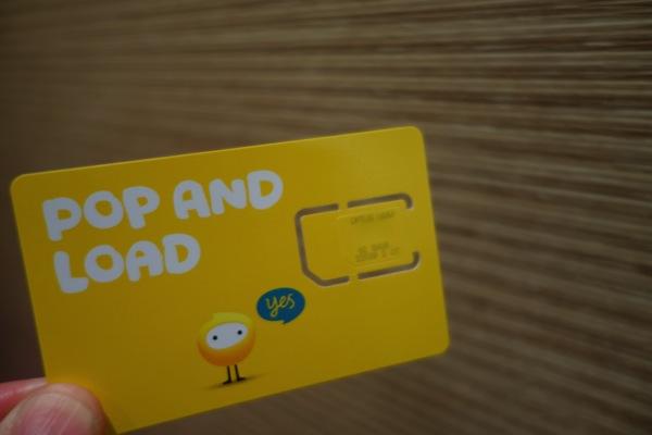 購入したOptusのプリペイドSIMカード