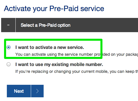 Telstra Pre Paid Activation