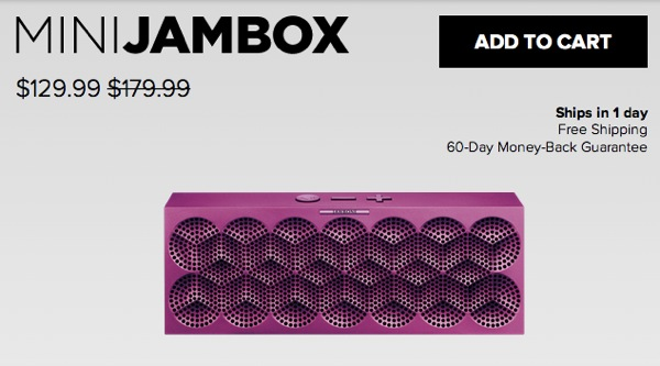 MINI JAMBOXが米国で$129に値下がり/国内価格は据え置き