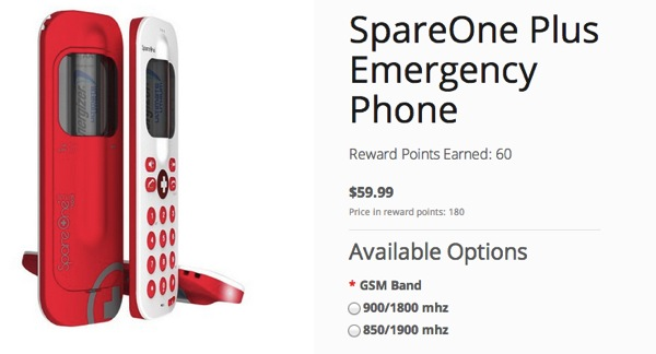 SpareOne Plus Emergency Phone