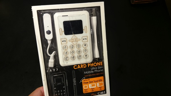 購入したCard Phone New CM1