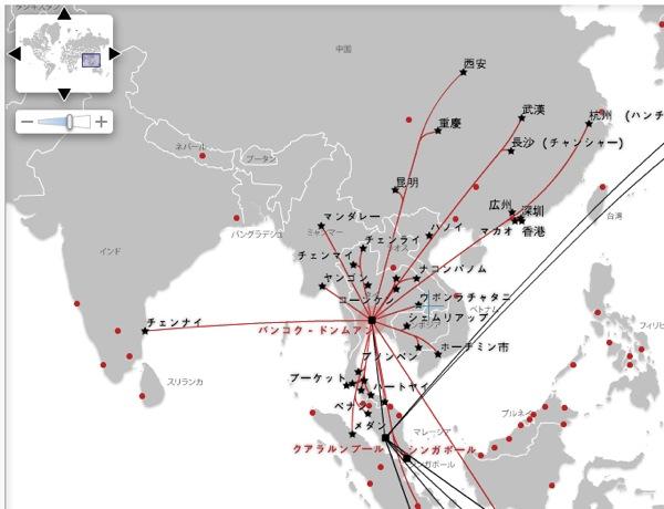 エアアジア ルートマップ 世界に広がるエアアジアの翼