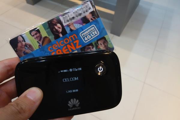マレーシア CelcomのプリペイドSIMでLTEを利用