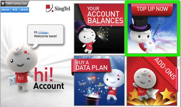 SingTel hi Account