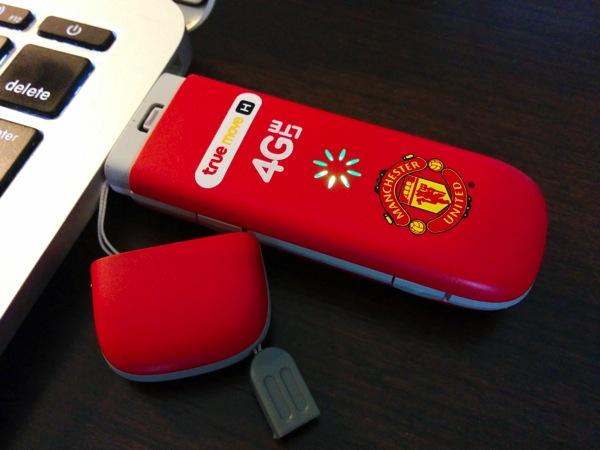 TrueMove × マンチェスターユナイテッドの限定USBモデムを購入!LTE対応で約7,000円