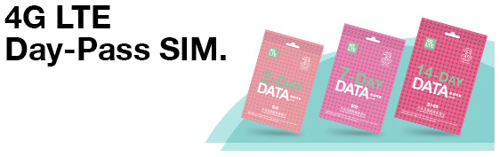 Day Pass Data SIM 3HK