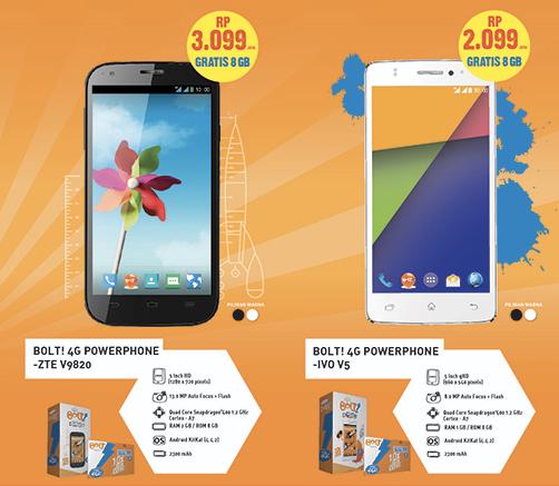 インドネシアの『Bolt!』が4G LTE対応のスマートフォンを発表 価格は約18,000円〜
