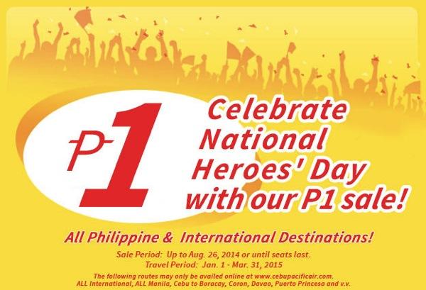 セブ・パシフィック航空 フィリピン国内線&国際線の全線が運賃1ペソになる激安セールを開催!