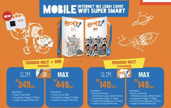 ジャカルタで使える『Bolt!』の4G LTE対応モバイルWi-Fiルータの販売価格が値上がり